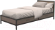 Односпальная кровать Millwood Loft KM-3.3 (дуб темный/металл черный) -