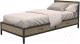 Односпальная кровать Millwood Loft KM-3.2 (дуб натуральный/металл черный) -