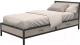 Односпальная кровать Millwood Loft KM-3.1 (дуб беленый/металл черный) -