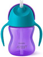 Поильник Philips AVENT SCF796/02 (200мл, фиолетовый/бирюзовый) -