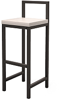 Стул барный Millwood Крам/L СДН-6 (дуб белый Craft/металл черный) -