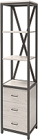 Стеллаж Millwood Neo Loft ML-2/L (дуб белый Craft/металл черный) -