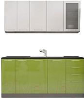 Готовая кухня Интерьер центр Олива 1.8 (зеленый/белый) -