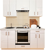 Готовая кухня Хоум Лайн Кристалл плюс 1.8 (белый глянец) -
