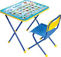 Комплект мебели с детским столом Ника КП/9 Азбука (голубой) -