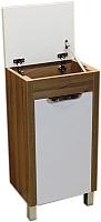 Тумба для ванной СанитаМебель Камелия-72.2 Д4 (правая, акация) -