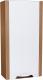 Шкаф-полупенал для ванной СанитаМебель Камелия-27 Д4 (левый, акация) -