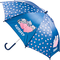 Зонт-трость Котофей 03807008-10 (синий) -