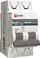 Выключатель автоматический EKF ВА 47-63 2Р 3А (C) PROxima -