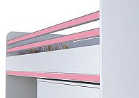 Бортик для кровати Polini Kids City декоративный (розовый) -