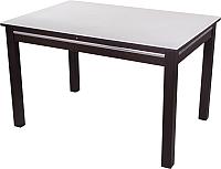 Обеденный стол Домотека Самба (белый/венге) -