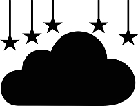 Наклейка грифельная Grifeldecor Облако / BZ1810-21B233 -