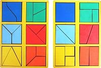 Развивающая игра Smile Decor Сложи квадрат Б. П. Никитин. 1 уровень / Н001 -
