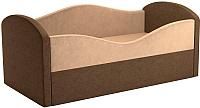 Кровать-тахта Mebelico Сказка 8 / 59526 (вельвет, бежевый/коричневый) -