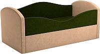 Кровать-тахта Mebelico Сказка 8 / 59531 (вельвет, зеленый/бежевый) -
