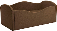 Кровать-тахта Mebelico Сказка 8 / 59532 (вельвет, коричневый) -