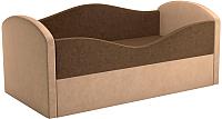 Кровать-тахта Mebelico Сказка 8 / 59533 (вельвет, коричневый/бежевый) -