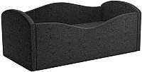 Кровать-тахта Mebelico Сказка 8 / 59535 (вельвет, черный) -