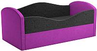 Кровать-тахта Mebelico Сказка 8 / 59536 (вельвет, черный/фиолетовый) -