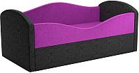 Кровать-тахта Mebelico Сказка 8 / 59538 (вельвет, фиолетовый/черный) -