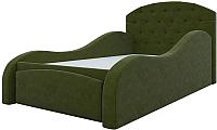 Кровать-тахта Mebelico Майя 10 / 58224 (микровельвет, зеленый) -
