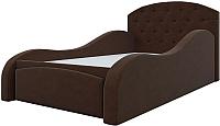 Кровать-тахта Mebelico Майя 10 / 58223 (микровельвет, коричневый) -