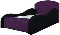 Кровать-тахта Mebelico Майя 10 / 58220 (микровельвет, фиолетовый/черный) -