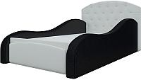 Кровать-тахта Mebelico Майя 10 / 58230 (экокожа, белый/черный) -