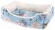 Лежанка для животных Ferplast Coccolo 50 / 82262998 (карта мира, голубой) -