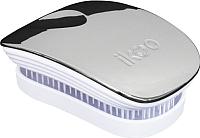 Расческа Ikoo Pocket Metallic Oyster White -