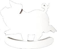 Статуэтка Grifeldecor Свинка-качалка / BZ182-19C204 -