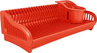 Сушилка для посуды Алеана 167091 (красный) -