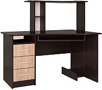 Компьютерный стол Интерлиния СК-003 (дуб венге/дуб серый) -