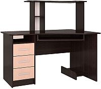 Компьютерный стол Интерлиния СК-003 (дуб венге/дуб молочный) -