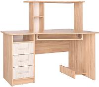 Компьютерный стол Интерлиния СК-003 (дуб сонома/дуб белый) -
