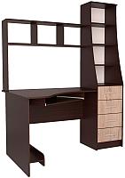 Компьютерный стол Интерлиния СК-004 (дуб венге/дуб серый) -