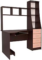 Компьютерный стол Интерлиния СК-004 (дуб венге/дуб молочный) -