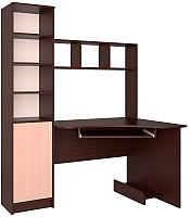 Компьютерный стол Интерлиния СК-005 (дуб венге/дуб молочный) -