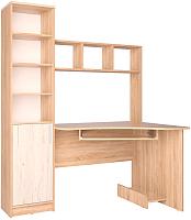 Компьютерный стол Интерлиния СК-005 (дуб сонома/дуб белый) -