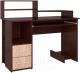 Компьютерный стол Интерлиния СК-009 (дуб венге/дуб серый) -