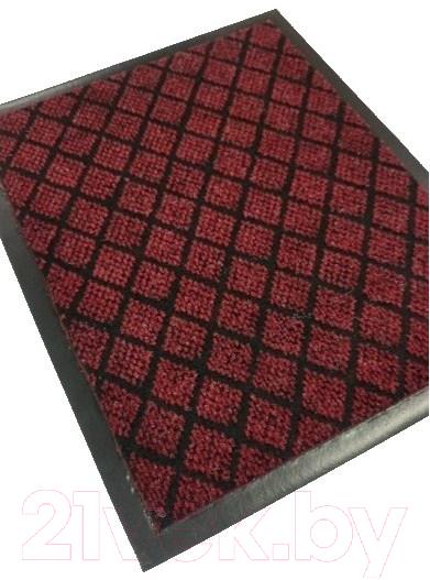 Коврик грязезащитный Kovroff, Галант ребристый 40x60 / 50105 (красный), Россия  - купить со скидкой