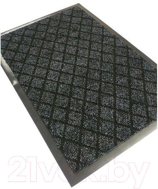 Купить Коврик грязезащитный Kovroff, Галант ребристый 40x60 / 50102 (серый), Россия