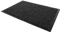 Коврик грязезащитный Kovroff Лофт ребристый 50x80 / 80201 (черный) -