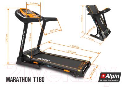 Электрическая беговая дорожка Alpin Marathon T-180
