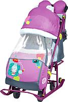 Санки-коляска Ника Детям 7-2 New (снеговик, орхидея) -