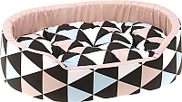 Лежанка для животных Ferplast Dandy 80 / 82944083 (треугольники, розовый) -