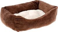 Лежанка для животных Ferplast Coccolo 80 Soft / 83270812 (коричневый) -