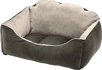 Лежанка для животных Ferplast Milord 65 / 83446503 (серый/бежевый) -