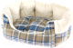 Лежанка для животных Ferplast Etoile 6 / 83506025 (с мехом, синий) -