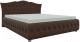 Полуторная кровать Mebelico Герда 27 / 58391 (микровельвет, коричневый) -